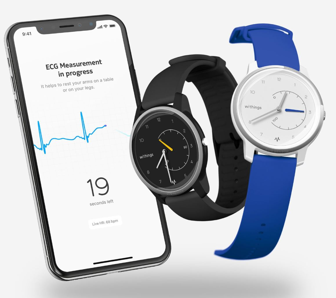 MOVE and track your heart with the Withings MOVE ECG watch